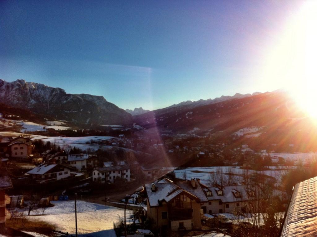 Najs utsikt från hotellfönstret